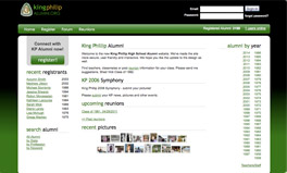 basic alumni web design