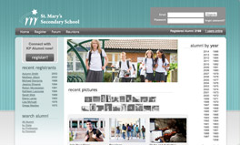 custom alumni website design